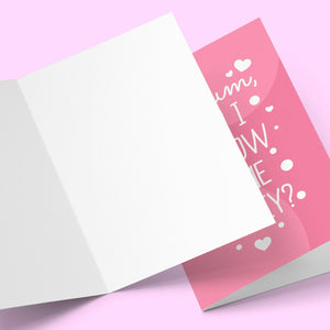Mum Can I Borrow Mother's Day Card Stationery Prodigi