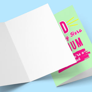 Mum Thinks You're A Farther's Day Card Stationery Prodigi