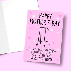 "Nursing Home Mother's Day Card Stationery Prodigi 5""x7"" 1 Card"