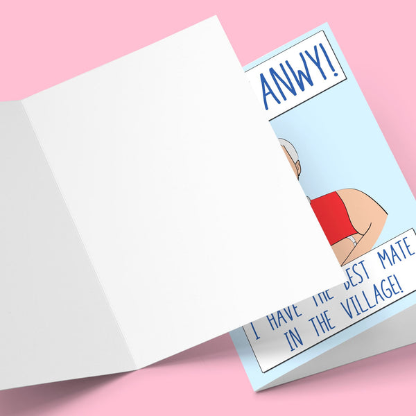 Oh! Mfanway I Have The Best Mate In The Village! Greeting Card Stationery Prodigi