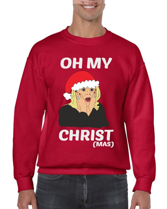 OH MY CHRIST CHRISTMAS JUMPER Jumper BanterKing SMALL RED 1 JUMPER