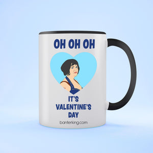 OH OH OH IT'S VALENTINE'S TWO TONED LARGE 11 OZ BANTER MUG Mug BanterKing Black 1 MUG