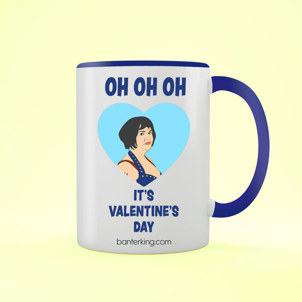 Oh Oh Oh It's Valentine's Two Toned Large 11oz Banter Mug Mug BanterKing Red