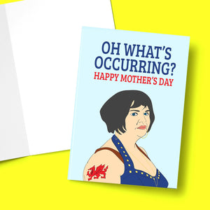 "Oh What's Occurring Mother Day Card Stationery Prodigi 5""x7"" 1 Card"