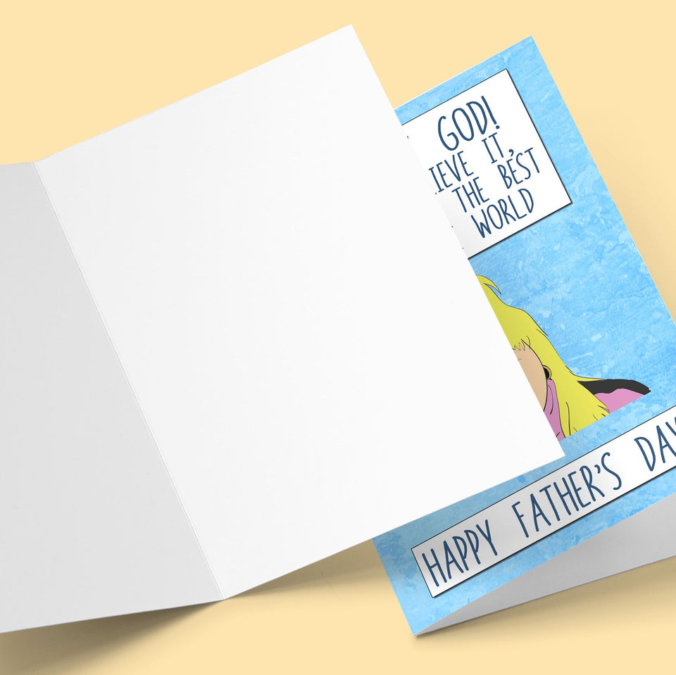 Ohh My God! Can't Believe it! Farther's Day Card Stationery Prodigi