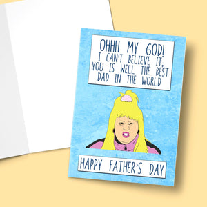 Ohh My God! Can't Believe it! Farther's Day Card Stationery Prodigi A5 1 Card