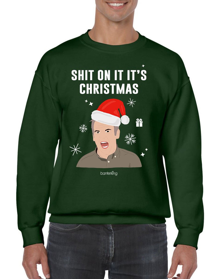 On It It's, Christmas Jumper (Unisex) Jumper BanterKing Small Green