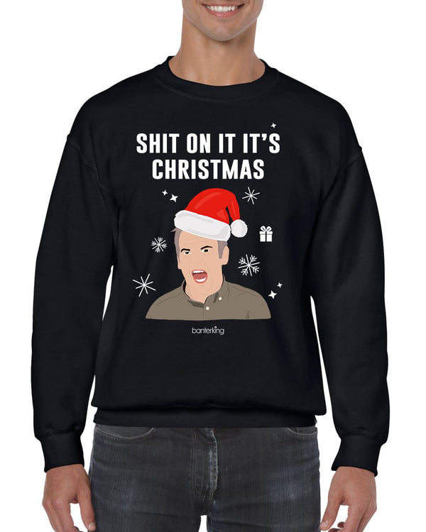 On It It's, Christmas Jumper (Unisex) Jumper BanterKing Small Black