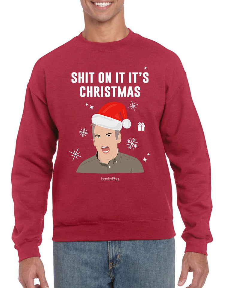 On It It's, Christmas Jumper (Unisex) Jumper BanterKing Small Red