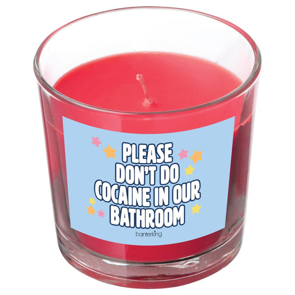 PLEASE DON'T DO... CANDLE BanterKing Red/Raspberry