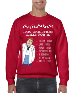 POPADOMS CHRISTMAS JUMPER BanterKing SMALL RED 1 JUMPER