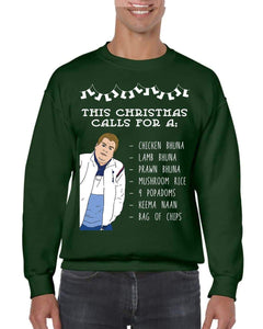 POPADOMS CHRISTMAS JUMPER BanterKing SMALL GREEN 1 JUMPER