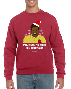 PRAIIISEEE THE LORD IT'S CHRISTMAS CHRISTMAS JUMPER Jumper BanterKing SMALL RED 1 JUMPER