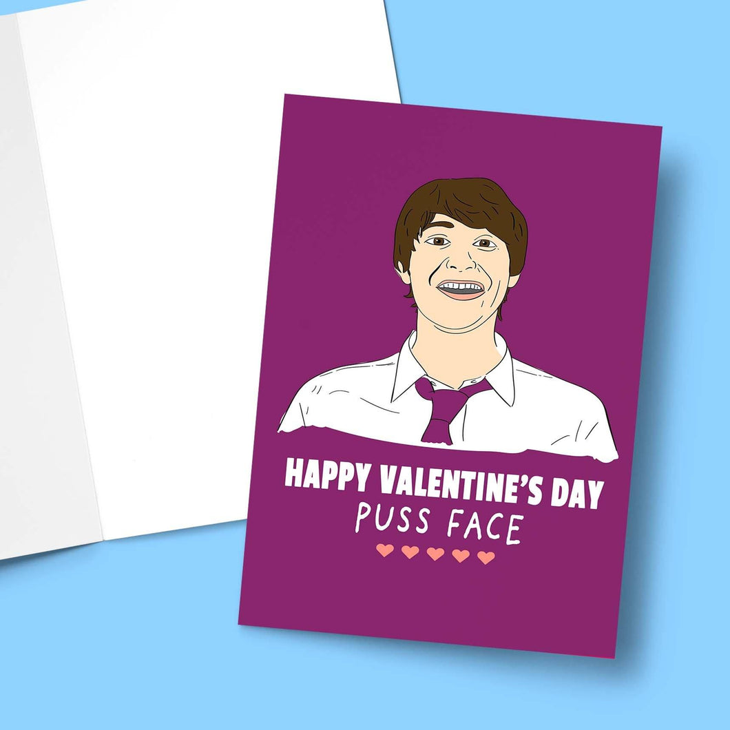 Puss Face Valentine's Greeting Card Stationery Prodigi