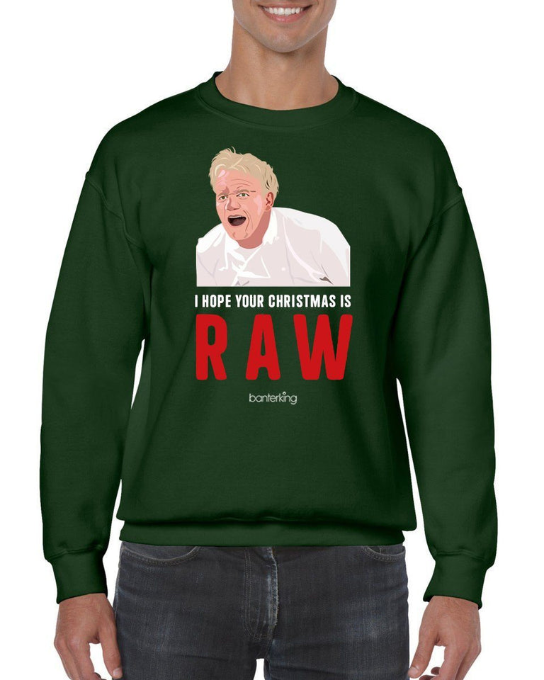 Raw Christmas, Christmas Jumper Jumper BanterKing SMALL GREEN