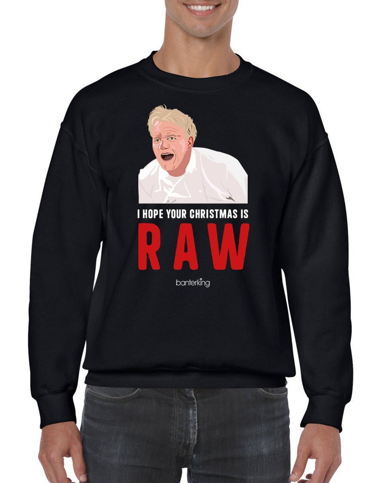 Raw Christmas, Christmas Jumper Jumper BanterKing SMALL BLACK