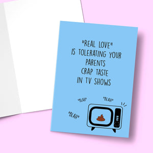 Real Love Is Tolerating your Parents Greeting Card Stationery Prodigi