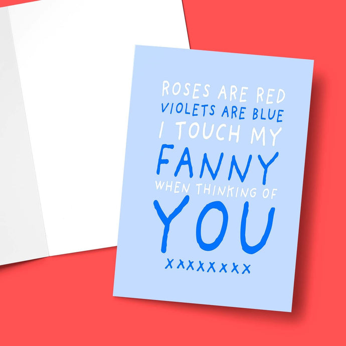 Roses Are Red I Touch Myself Valentine's Greeting Card Stationery Prodigi