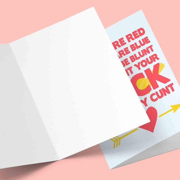 Roses Are Red Violets Are Blue Cock Valentine's Greeting Card Stationery Prodigi