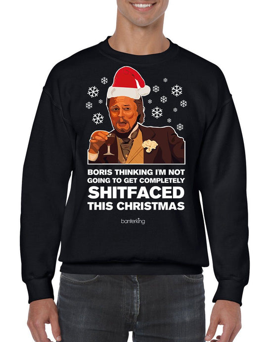 S Faced, Christmas Jumper (Unisex) Jumper BanterKing Small Black