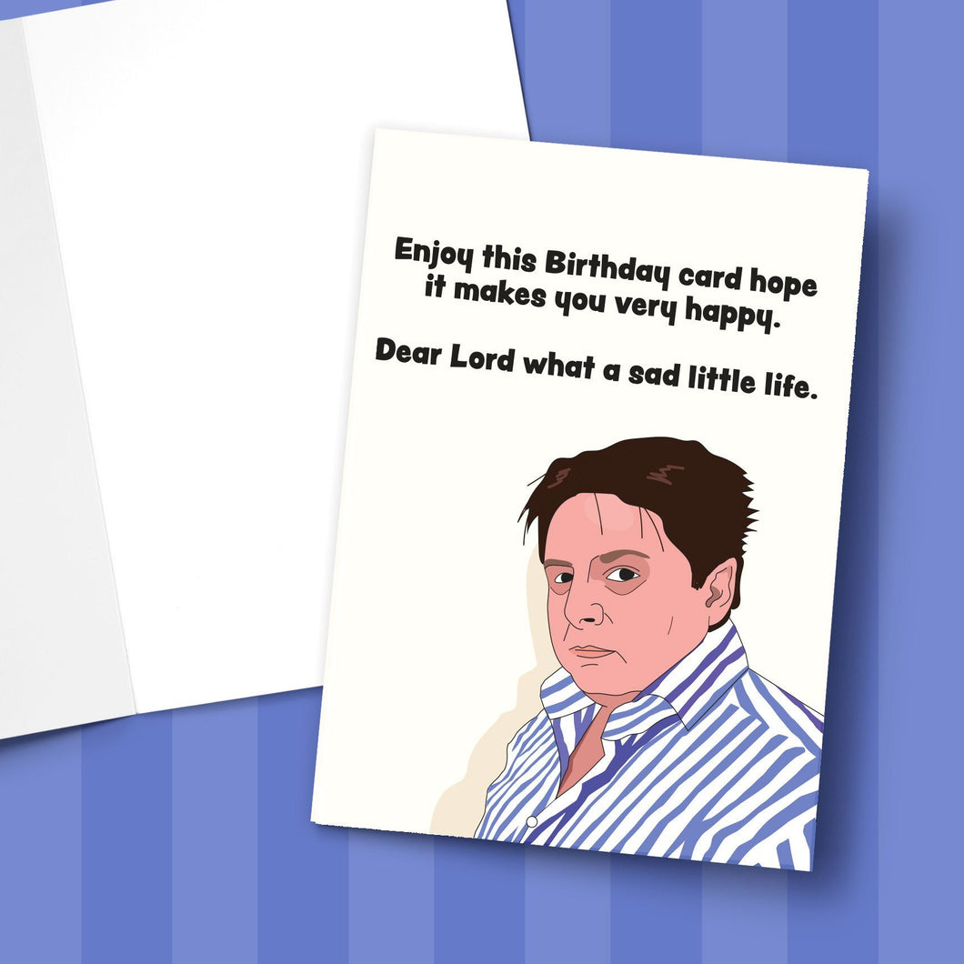 Sad Little Birthday Greeting Card Stationery Prodigi