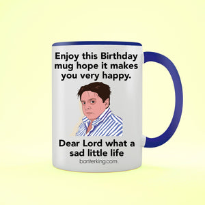 Sad Little Birthday Two Toned Large 11oz Mug Mug Inkthreadable Blue