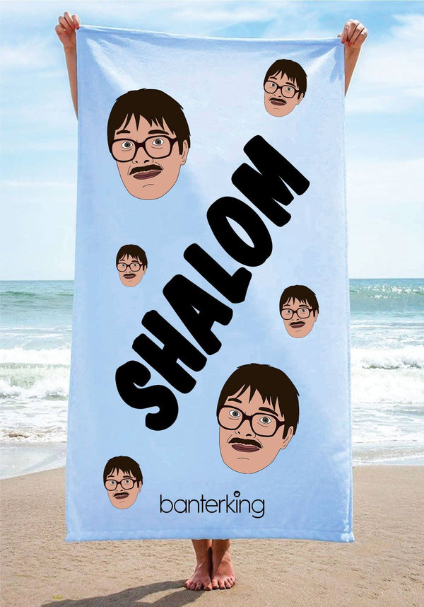 Shalom Beach Towel towels BanterKing 1 TOWEL