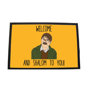 Shalom Large Door Mat Door Matt WeBrandIt Orange