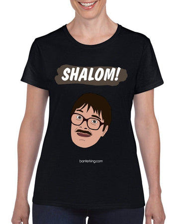 Shalom! T-Shirt T'shirt BanterKing Small Female