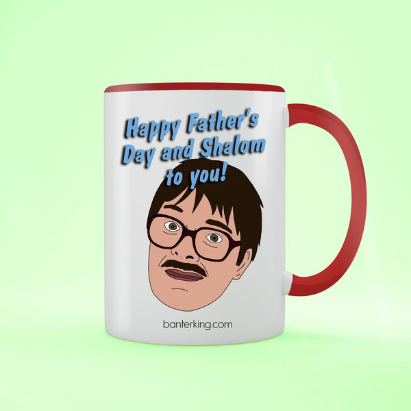 Shalom Two Toned 11oz Father's Day Mug Mug We Brand It Black 1 MUG