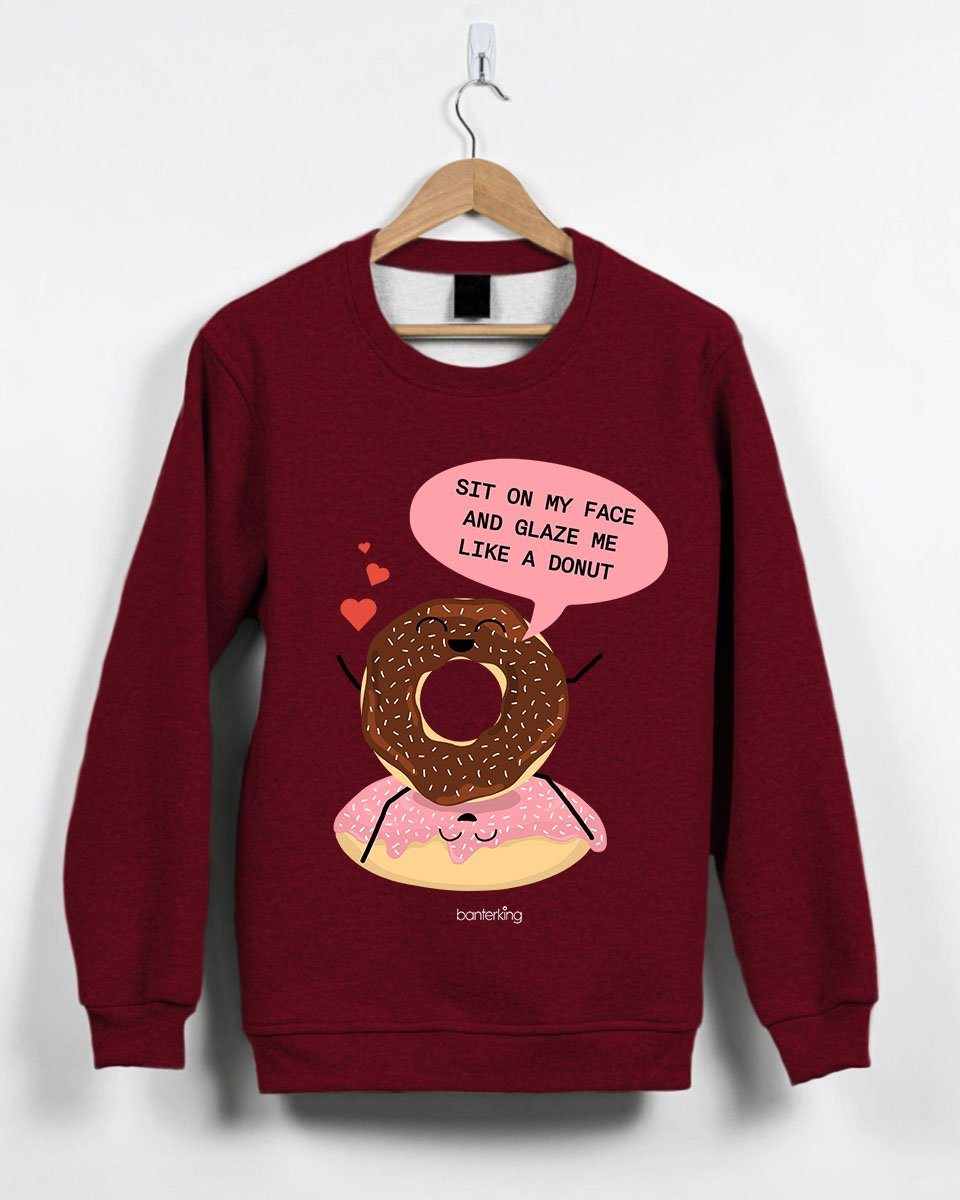 Sit On My Face And Glaze Me Valentine's Jumper Jumper Inkthreadable Small Red