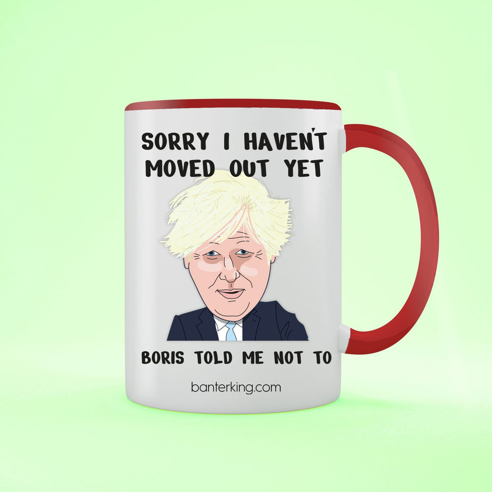 Sorry I Haven't Moved Out, Boris Mother's Day Mug Mug Inkthreadable Red