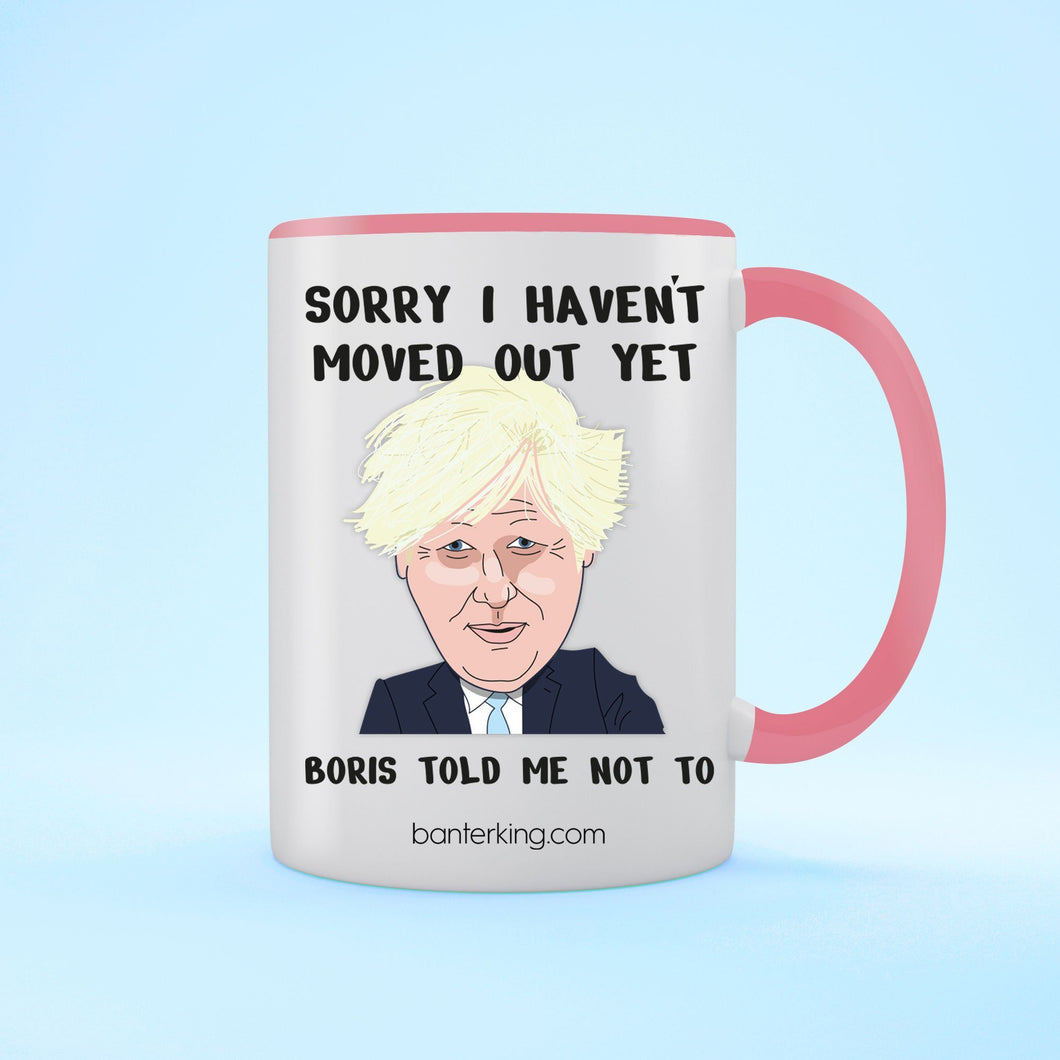 Sorry I Haven't Moved Out, Boris Mother's Day Mug Mug Inkthreadable Pink