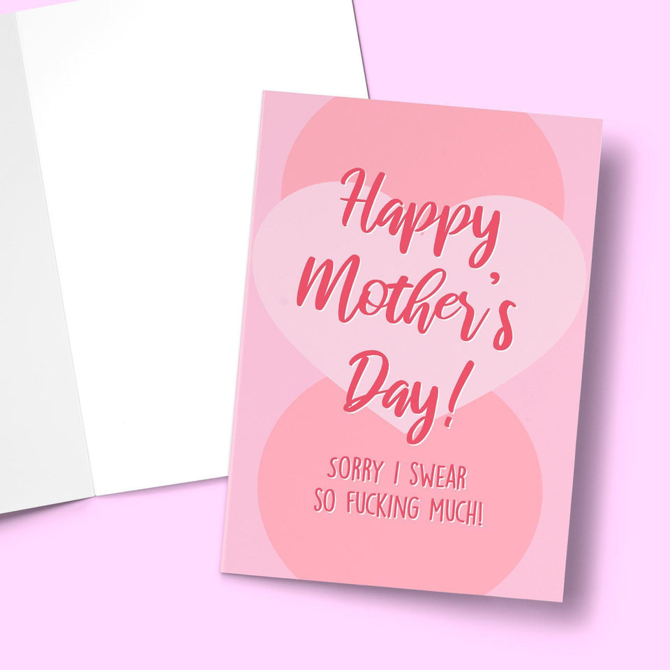 "Sorry I Swear So Much Mother's Day Card Stationery Prodigi 5""x7"" 1 Card"