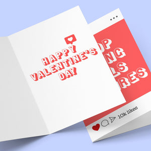 Stop Liking Girls Pictures Valentine's Greeting Card Stationery Prodigi