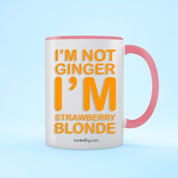 Strawberry Blonde Two Toned 11oz Birthday Mug Mug BanterKing Pink 1 MUG