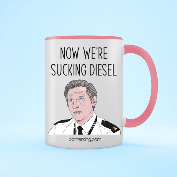 Sucking Diesel Line of Duty Two Toned Mug Mug Banter King Pink