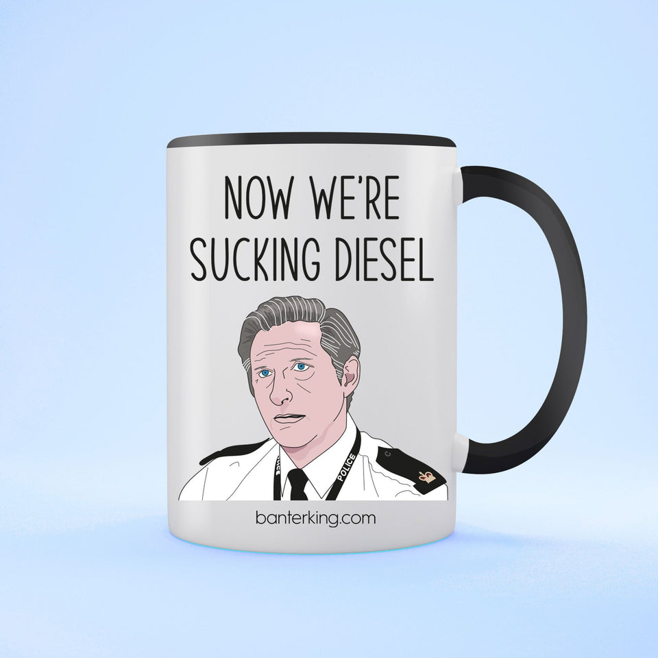 Sucking Diesel Line of Duty Two Toned Mug Mug Banter King Black