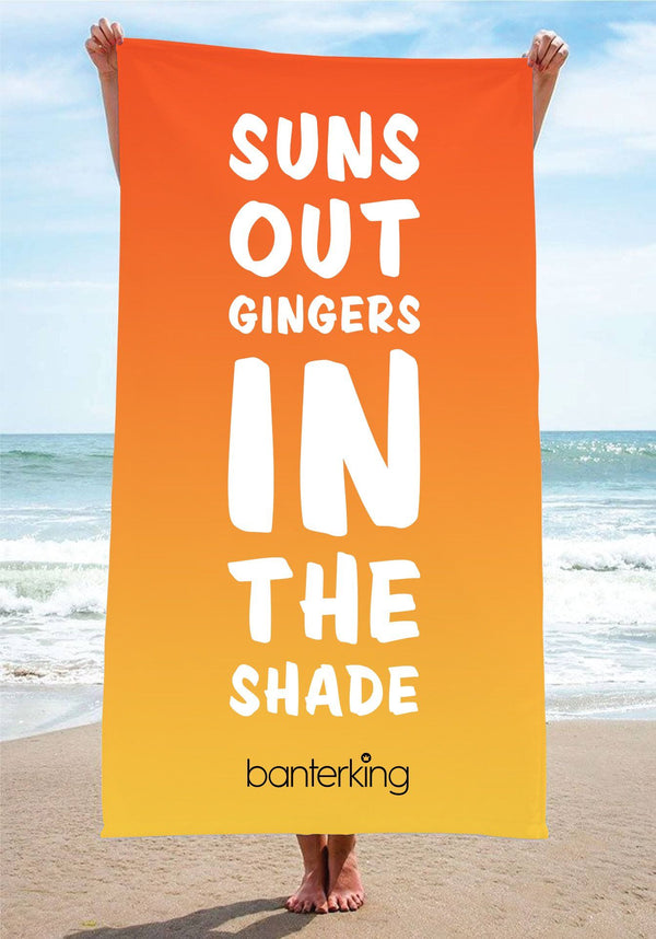 Suns Out Beach Towel towels BanterKing 1 TOWEL