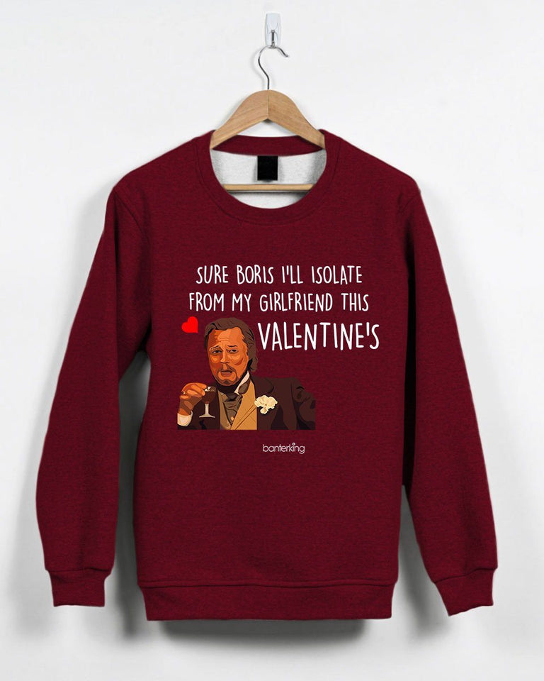 Sure Boris Isolate From Girlfriend Valentine's Jumper Jumper Inkthreadable Small Red