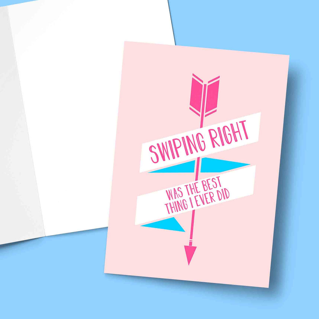 Swiping Right Was The Best Valentine's Greeting Card Stationery Prodigi
