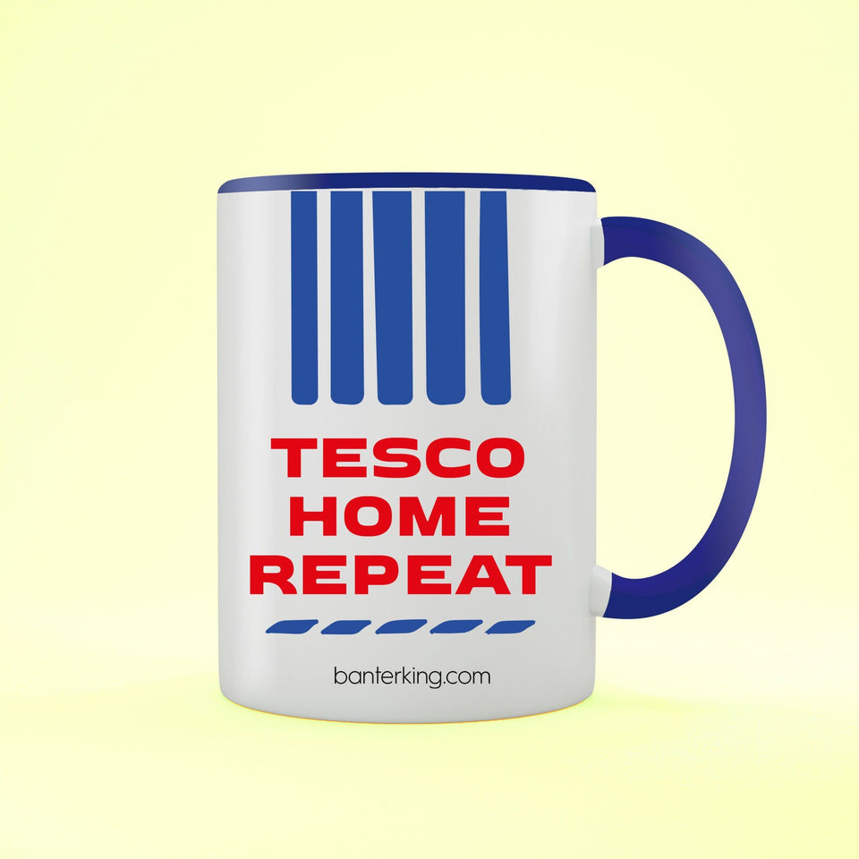 Tesco Home Repeat Two Toned Large 11oz Mug Mug Inkthreadable Blue