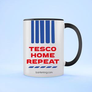 Tesco Home Repeat Two Toned Large 11oz Mug Mug Inkthreadable Black