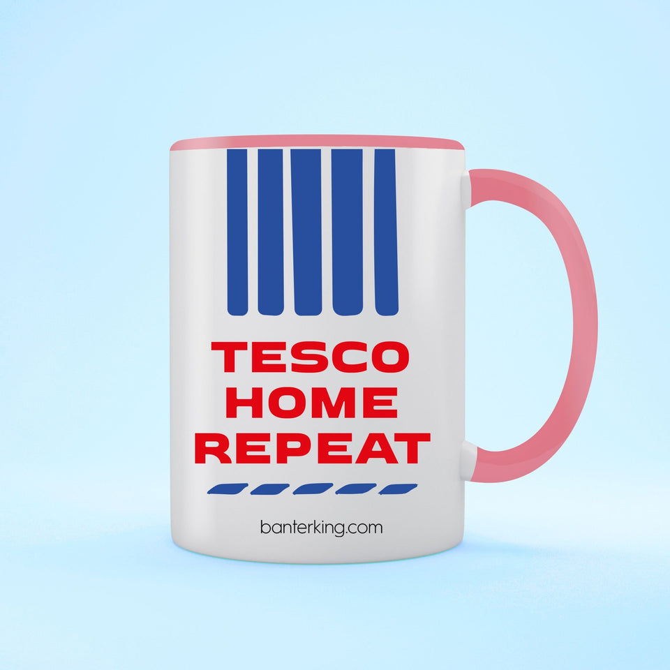 Tesco Home Repeat Two Toned Large 11oz Mug Mug Inkthreadable Pink
