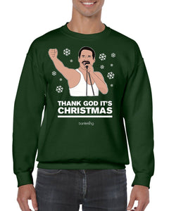 Thank God, Christmas Jumper Jumper BanterKing SMALL GREEN