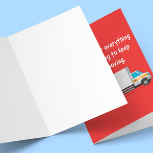 Thank You For Keeping Things Moving Card Stationery Prodigi