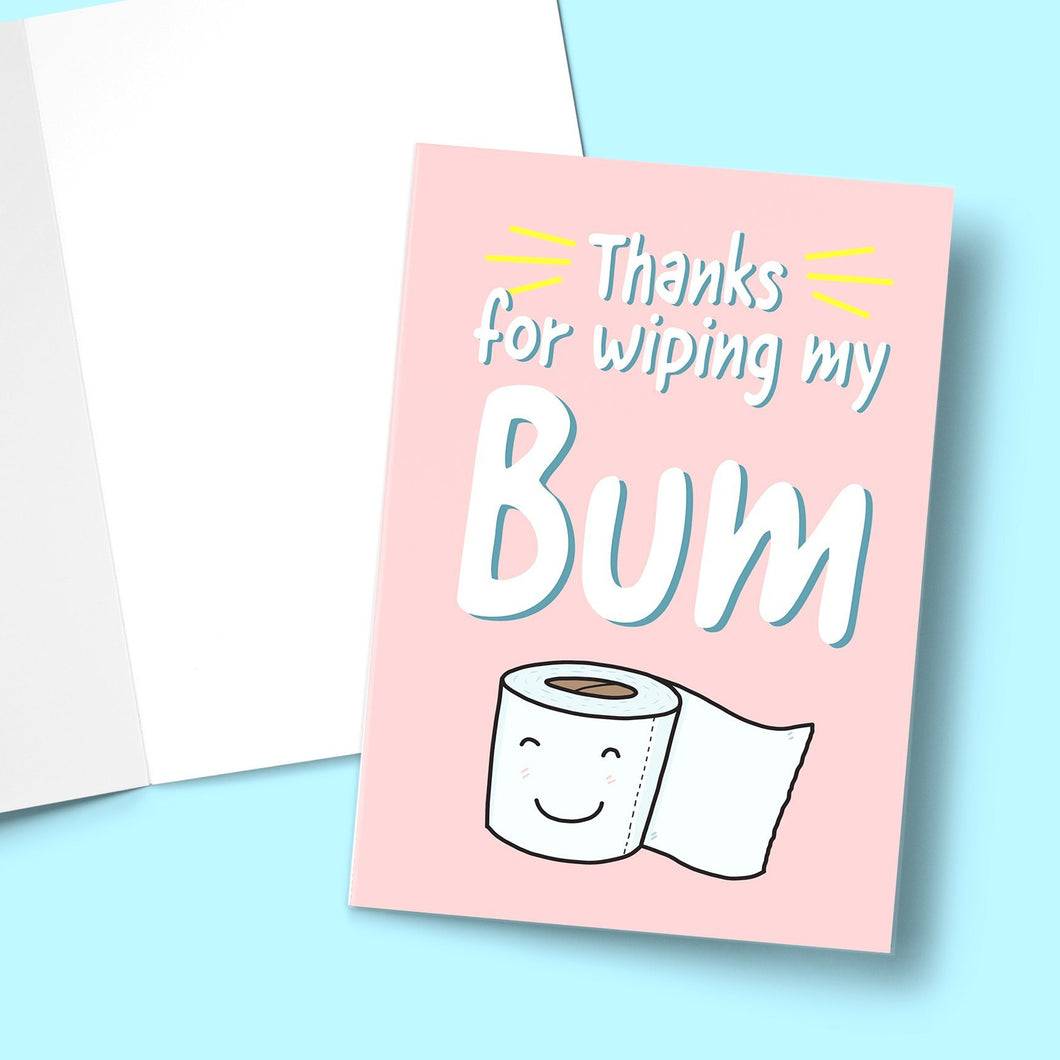 Thanks For Wiping My Bum Mother's Day Greeting Card Stationery Prodigi