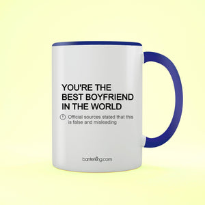 The Best Boyfriend In The World Valentine's Two Toned Large 11oz Mug Mug Inkthreadable Blue