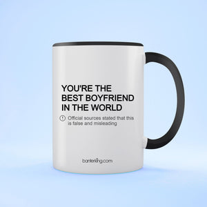 The Best Boyfriend In The World Valentine's Two Toned Large 11oz Mug Mug Inkthreadable Black