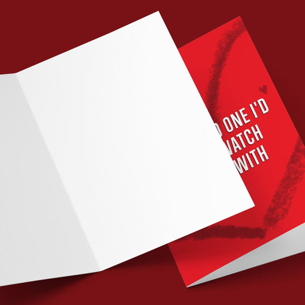 There's No One I'd Rather Watch Netflix With Valentine's Greeting Card Stationery Prodigi
